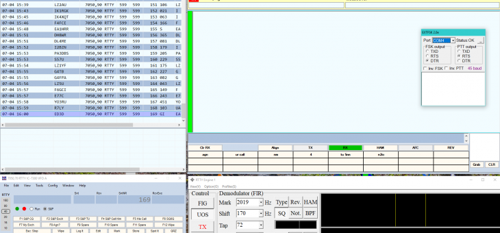 N1MM RTTY ICOM7300 SETTINGS