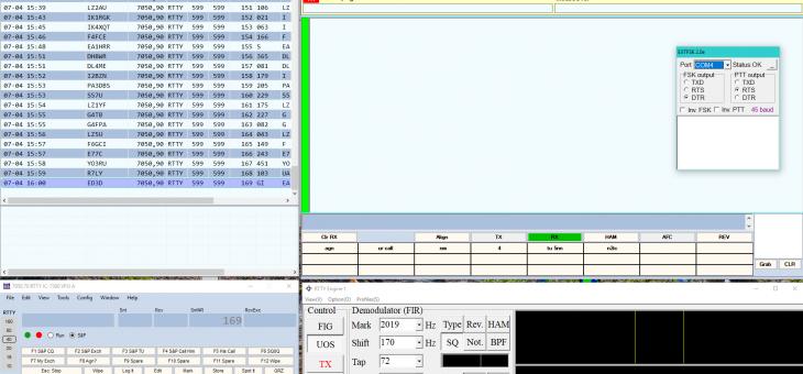 N1MM RTTY ICOM7300 SETTINGS
